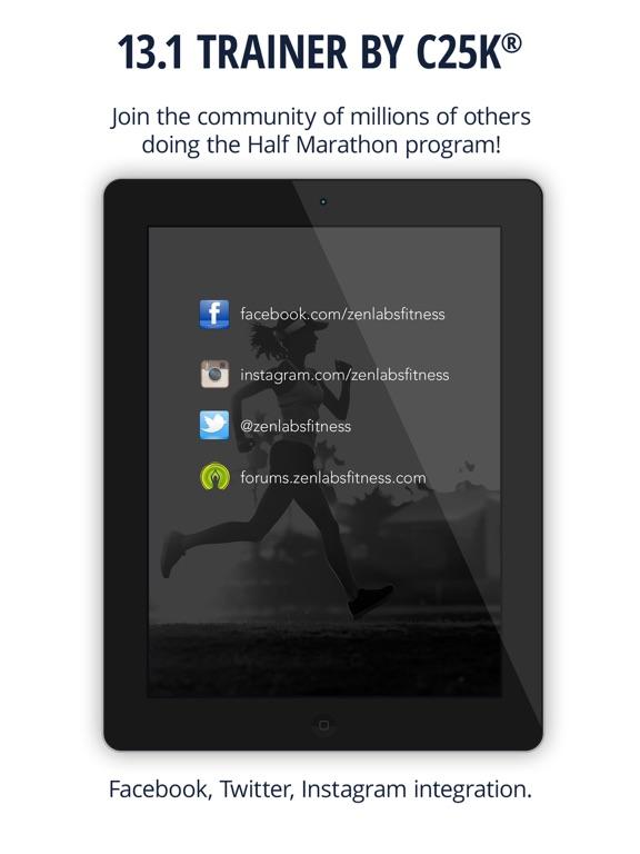 13.1 Half Marathon Trainer Screenshots