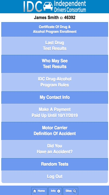 IDCapp Drug Free screenshot-1