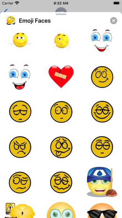 Emoji Faces Sticker Pack screenshot 4