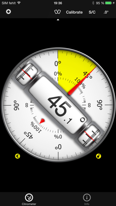 Clinometer + bubble level screenshot one