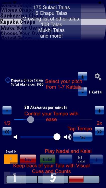 Talanome - Carnatic Metronome screenshot-0