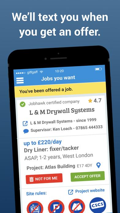 UK Construction Jobs - JOBHAWK screenshot four