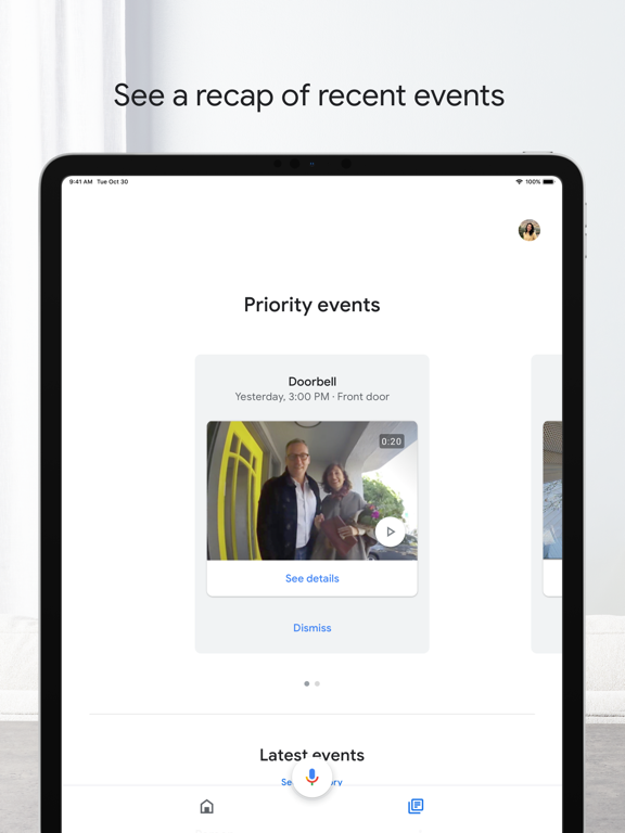 iPad Image of Google Home