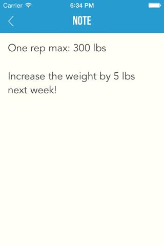 Gym List - náhled