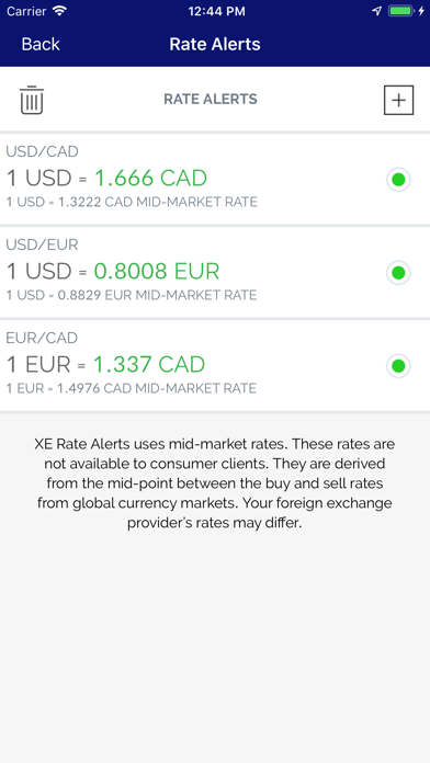 Screenshot for XE Currency in Azerbaijan App Store