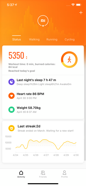 ‎Mi Fit Screenshot