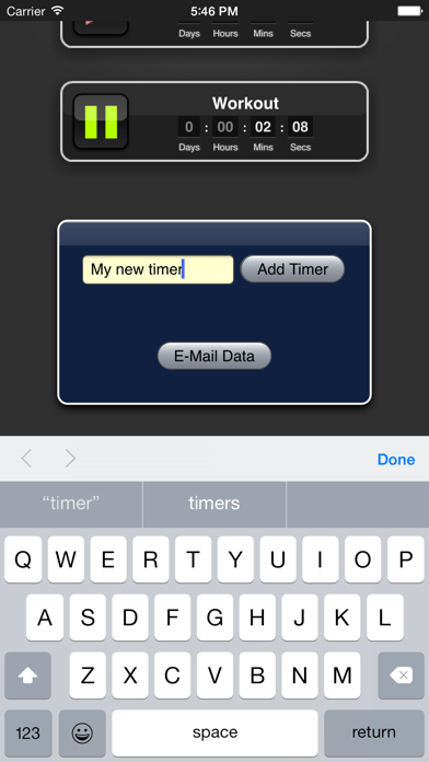 Timer App screenshot three