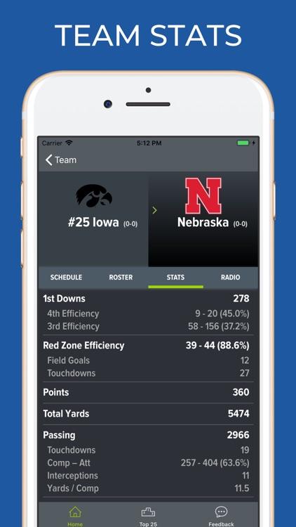Nebraska Football Schedules screenshot-4