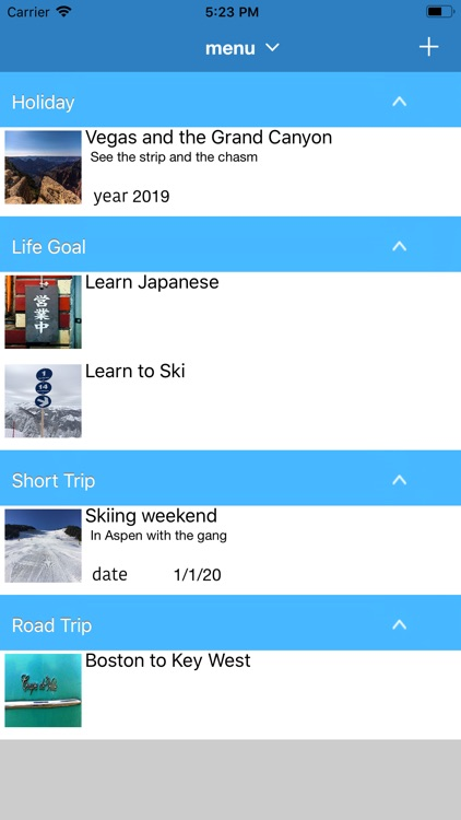 bucket list life planner Ryoko