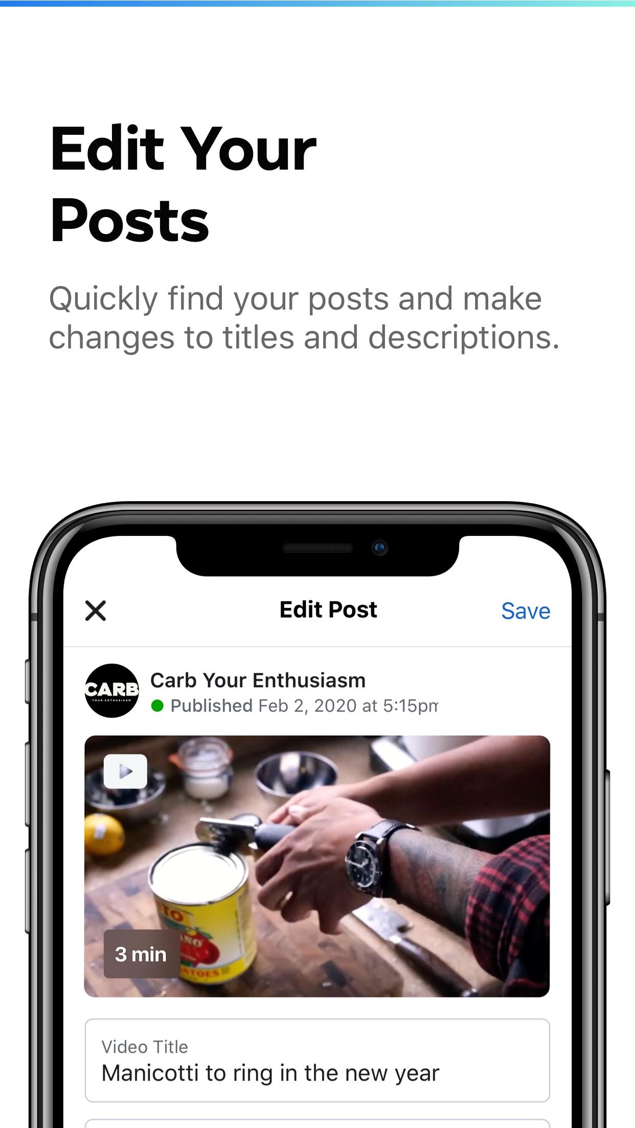 Screenshot do app Creator Studio from Facebook