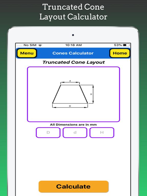 Cones Calculator Pro screenshot 12