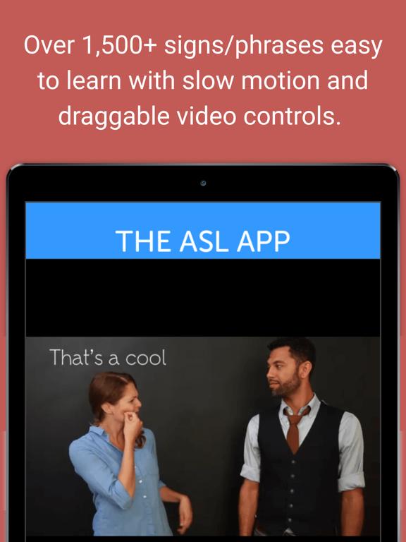 The ASL App screenshot