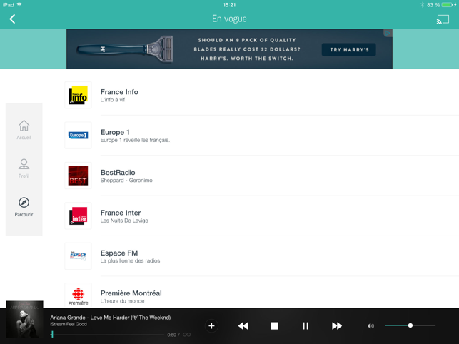 ‎TuneIn - Radio et Podcasts Capture d'écran