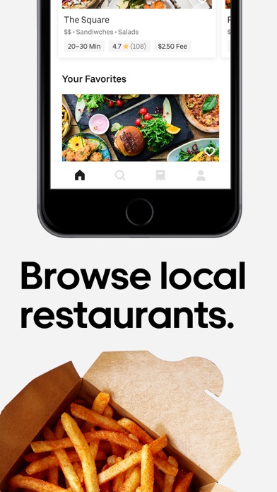 Screenshot for Uber Eats: Food Delivery in Romania App Store