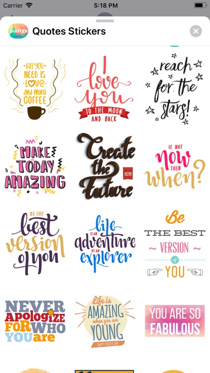 Quotes: Motivational Stickers screenshot-6