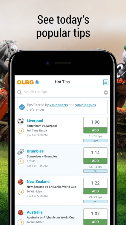 Sports betting tips with OLBG screenshot-4