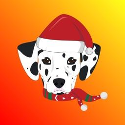 Christmas Pug Stickers Emojis