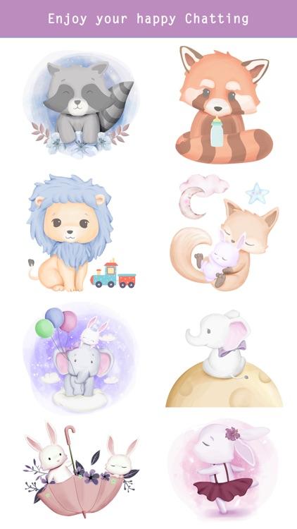 Fairytale Baby Animal Stickers screenshot-4