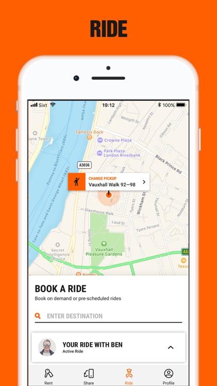 SIXT rent share & taxi screenshot-3