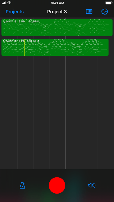 Nocturne MIDI Recorder screenshot one