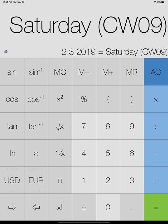 My Calculator (incl. currency) Screenshots