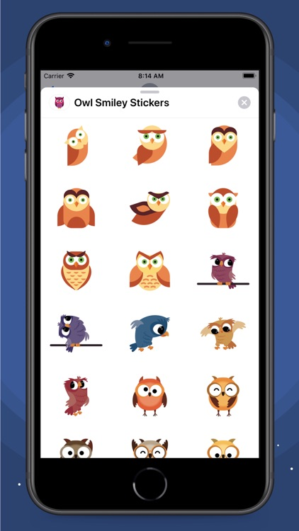 Owl Smiley Stickers screenshot-4