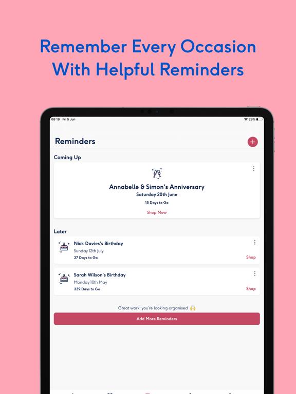 Moonpig - Send Personalised Cards, Gifts & Flowers screenshot