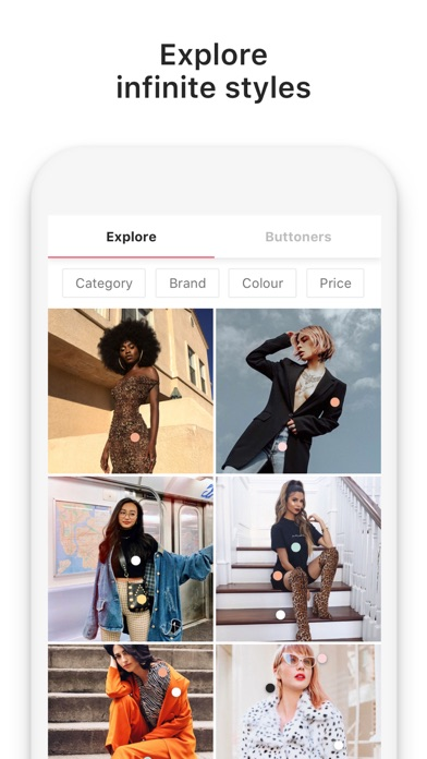 Screenshot for 21 Buttons: Fashion Network in United States App Store