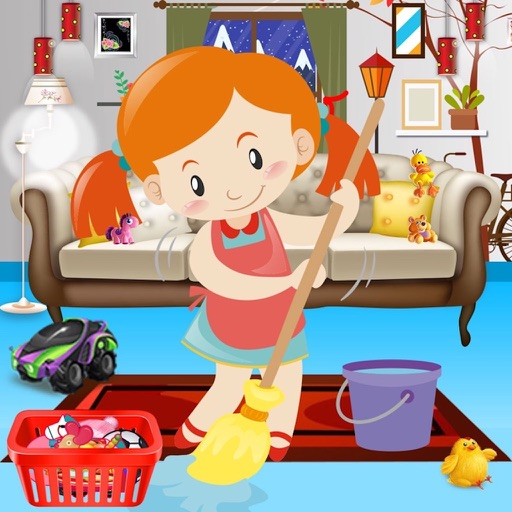 Girl Messy Home Clean Up Games