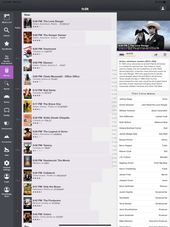TV Listings - US TV Guide - Support for Comcast, DirectTV, DISH, Time Warner Cable, Over-the-air and more screenshot