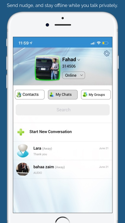 myChat - Talk with friends screenshot-2