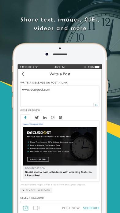 RecurPost - Social Media App screenshot three