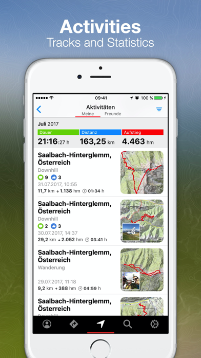 bergfex Tours & GPS Tracking på PC