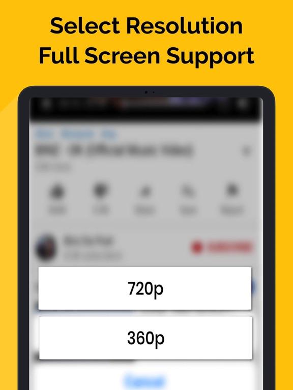 Ipad Screen Shot MiniTube - Minimize Player 2