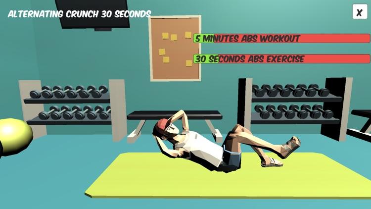 ABS - 5 min Six Pack Workout screenshot-4