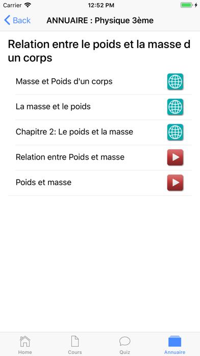 Physique 3ème screenshot 7