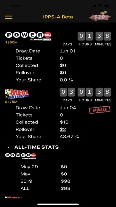 Lotto Manager Ticket Scanner screenshot 1