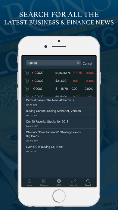 Screenshot for Barron's - Investing Insights in United States App Store