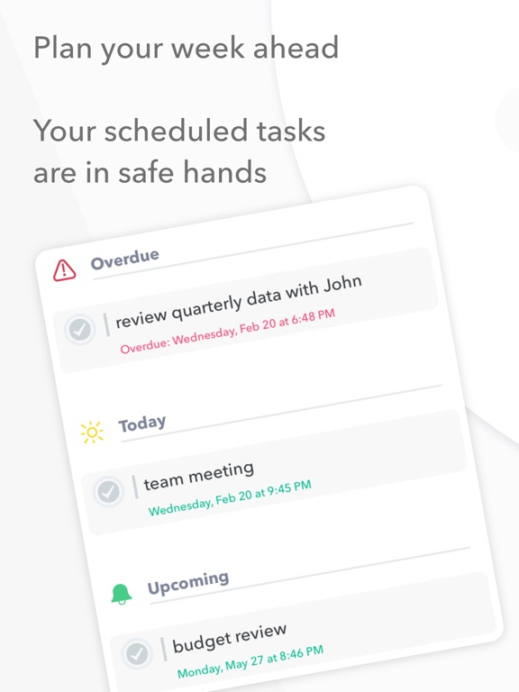 Nural - tasks, notes & chat Screenshots