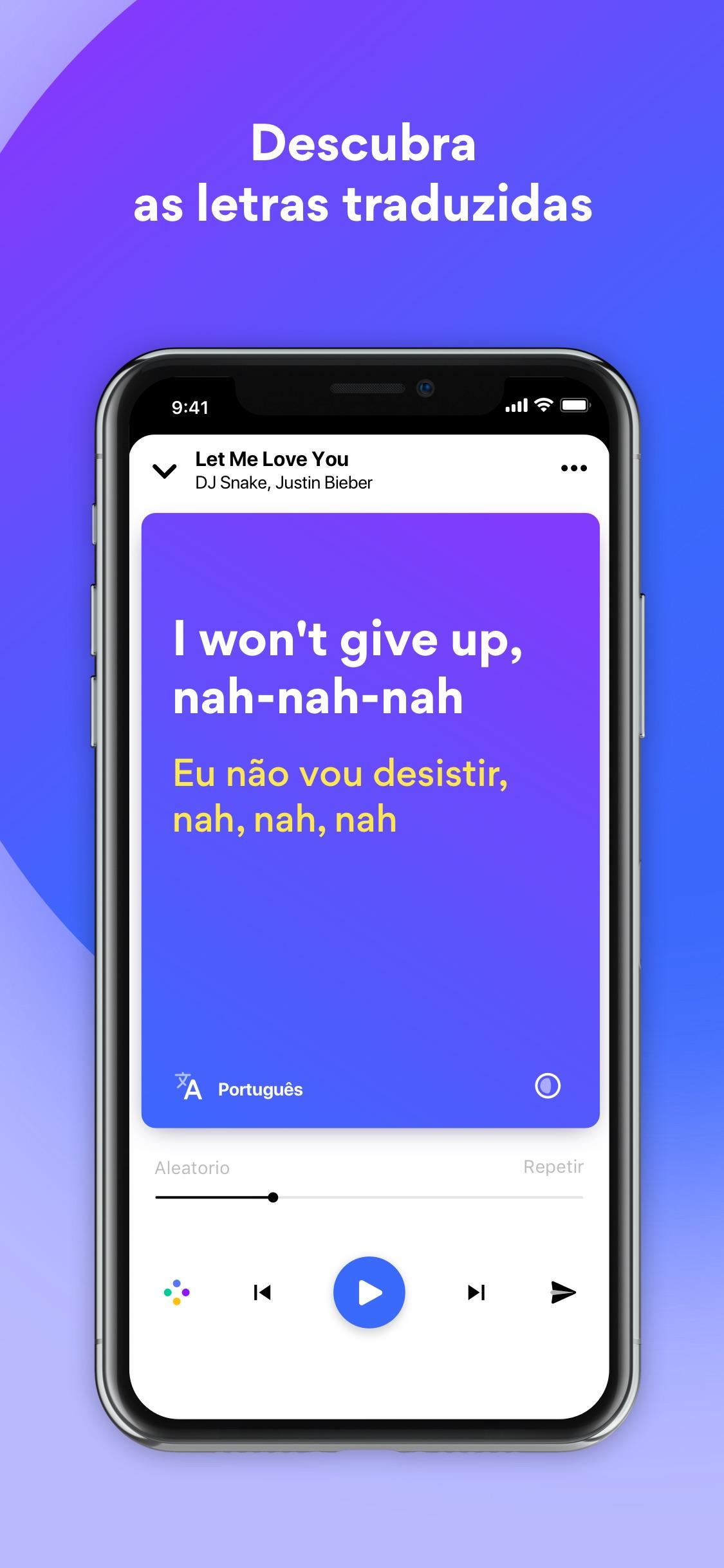 Screenshot do app Musixmatch
