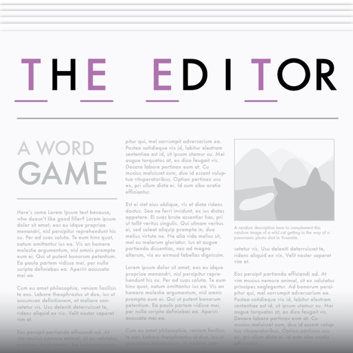The Editor Cryptograms