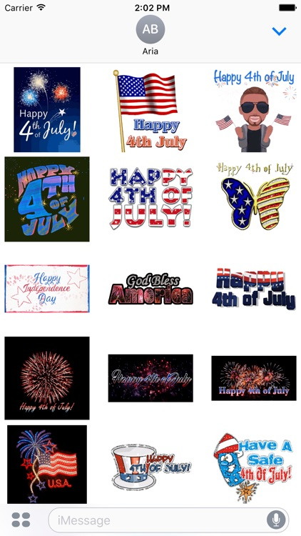 Happy Independence Day Sticker