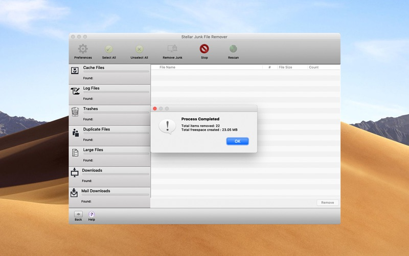 Stellar Junk File Remover скриншот программы 5