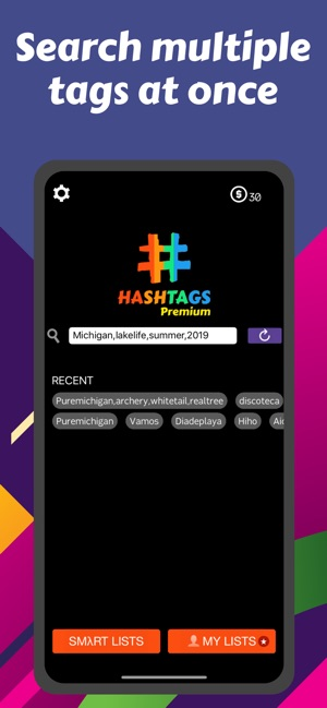 Hashtags for instagram growth on the App Store