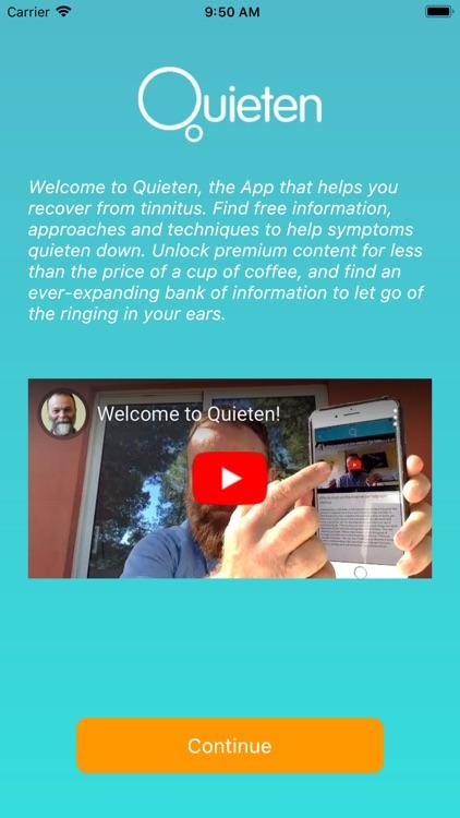 Quieten : Tinnitus Relief