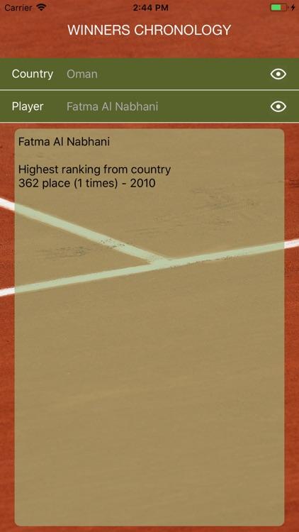 World Tennis Winners: Open Era screenshot-4