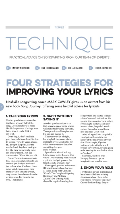Songwriting Magazine screenshot-3