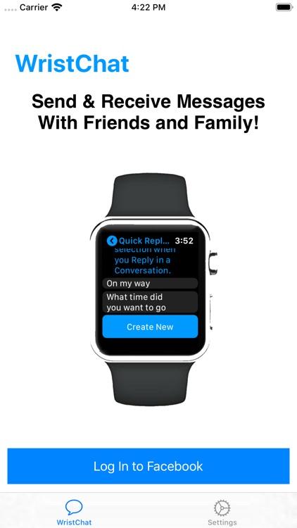 WristChat for Facebook screenshot-3