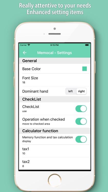 Memocal ~Notepad & Calculator~ screenshot-7