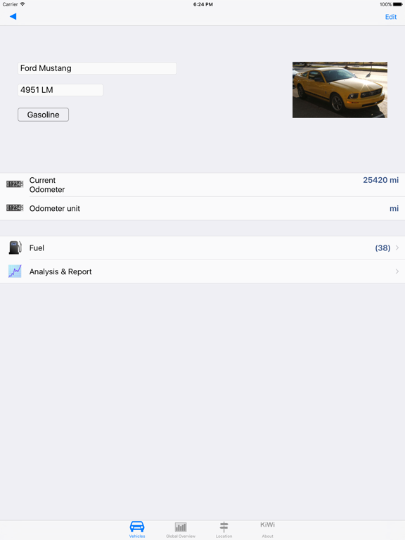 Gas Manager, fuel consumption & cost calculator for vehicles screenshot